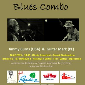 Blues Combo. Koncert Jimmy Burns' Birthday Party na Zamku Piastowskim